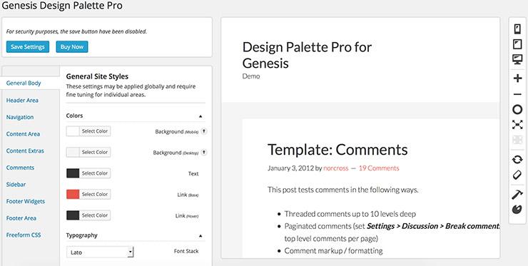 Genesis Design Palette Pro: это понравится тем, кому лень редактивровать CSS руками